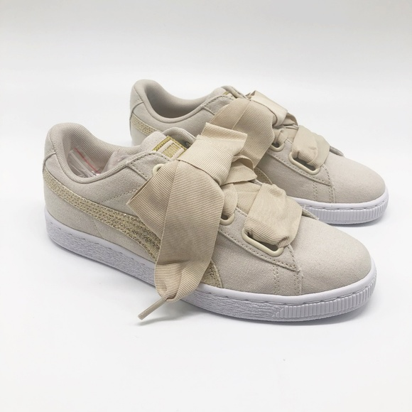 check out 4219a 149bf Puma Basket Heart Sneaker NWT